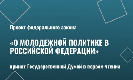 Проект федерального закона «О молодежной политике в Российской Федерации» принят Государственной Думой в первом чтении